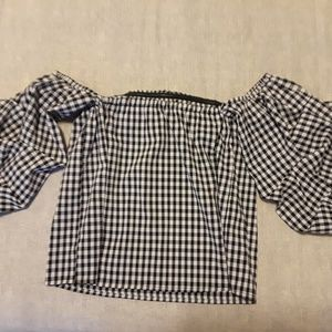 FOREVER 21 GINGHAM TOP